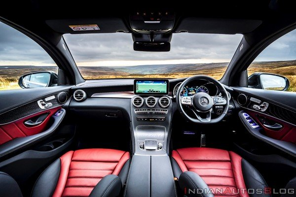 Interior view of the car