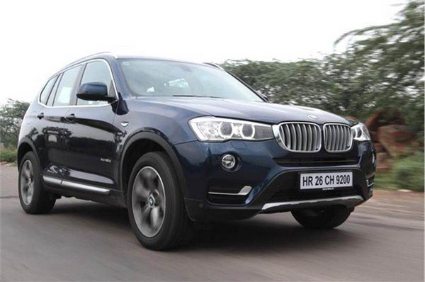 bmw x3 blue front angle