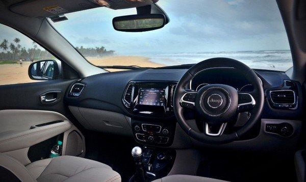 jeepc ompass cabin dashboard