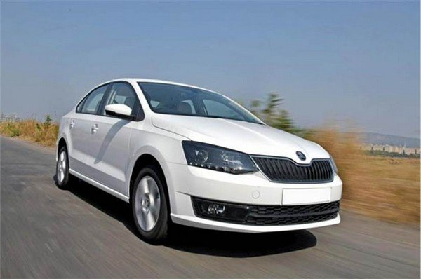 2016 skoda rapid white front angle