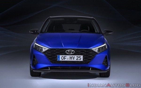 2020 hyundai i20 blue front