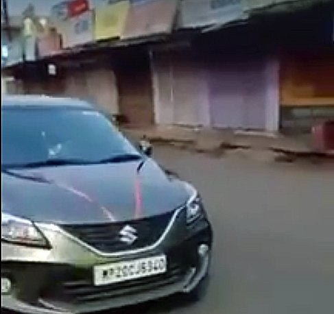 Watch Police Beating Up Maruti Baleno Occupants Out on a Joyride during Lockdown
