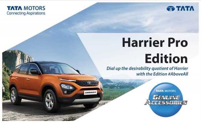 Tata Harrier pro edition package accessories