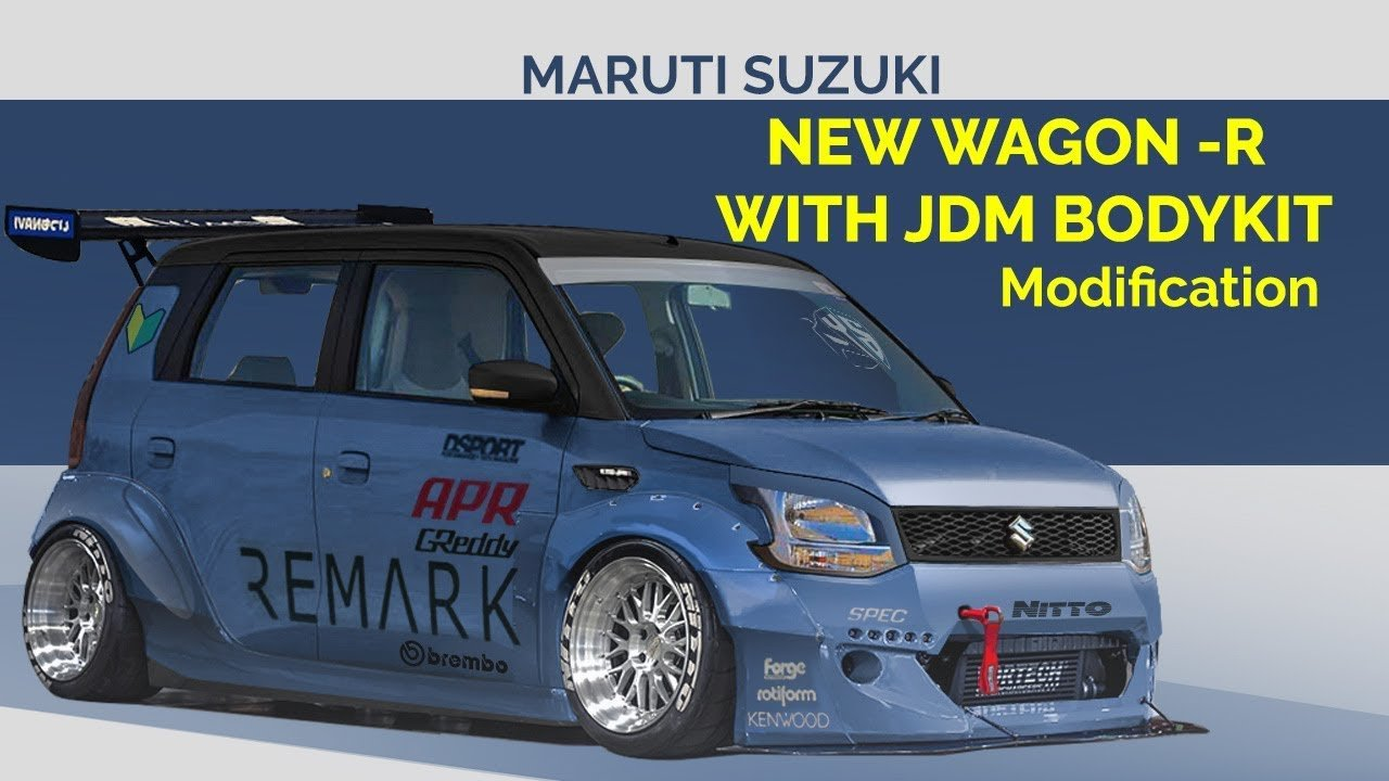 Super-Low Maruti WagonR With Wide Bodykit, Check It Out