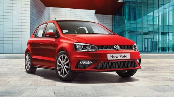 vw polo red colour front angle