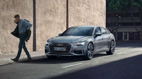audi a6 silver front view