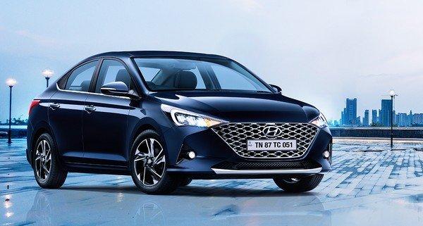 best C-segment cars in India - hyundai verna 2020 three quarter front