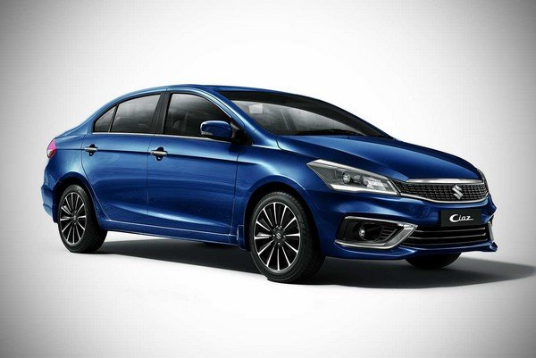 maruti ciaz side profile blue