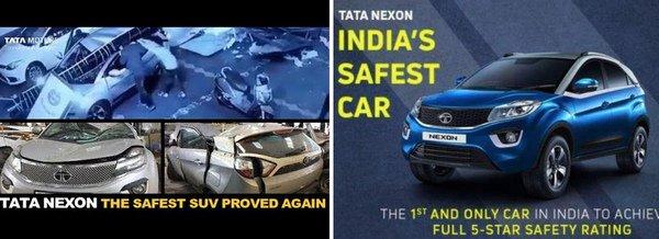 tata-nexon-accident-advertisement-board-falls