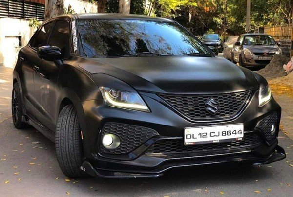 modified maruti baleno front three quarters image 1