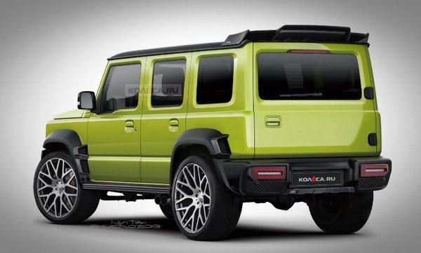 rendered maruti jimny rear three quarters image 1