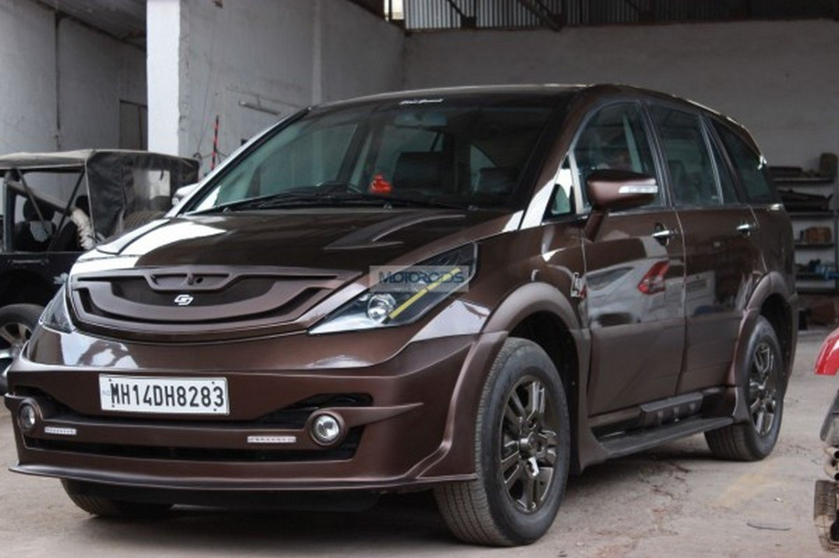 modified tata aria front three quaters image 1