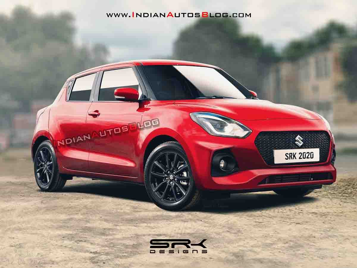 2020 Maruti Swift Facelift Imagined Digitally