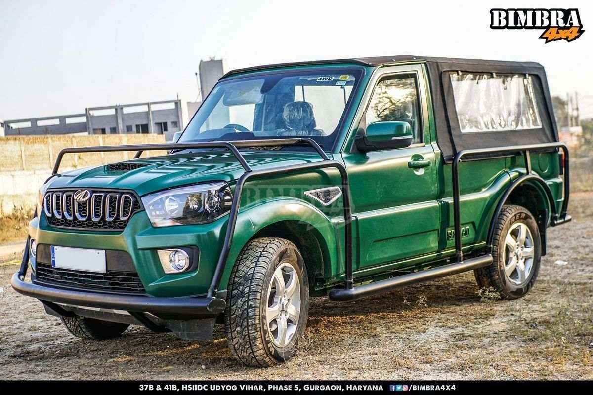 Modified Mahindra Scorpio Pickup front angle