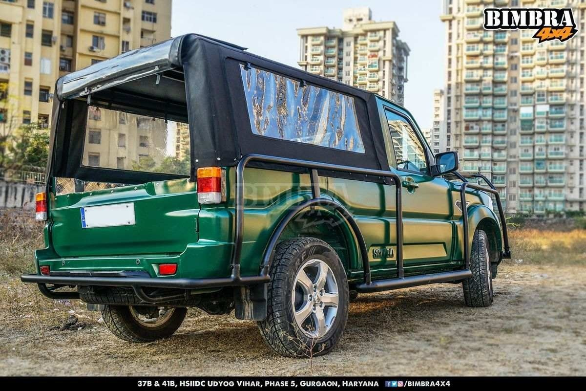 Modified Mahindra Scorpio Pickup rear angle