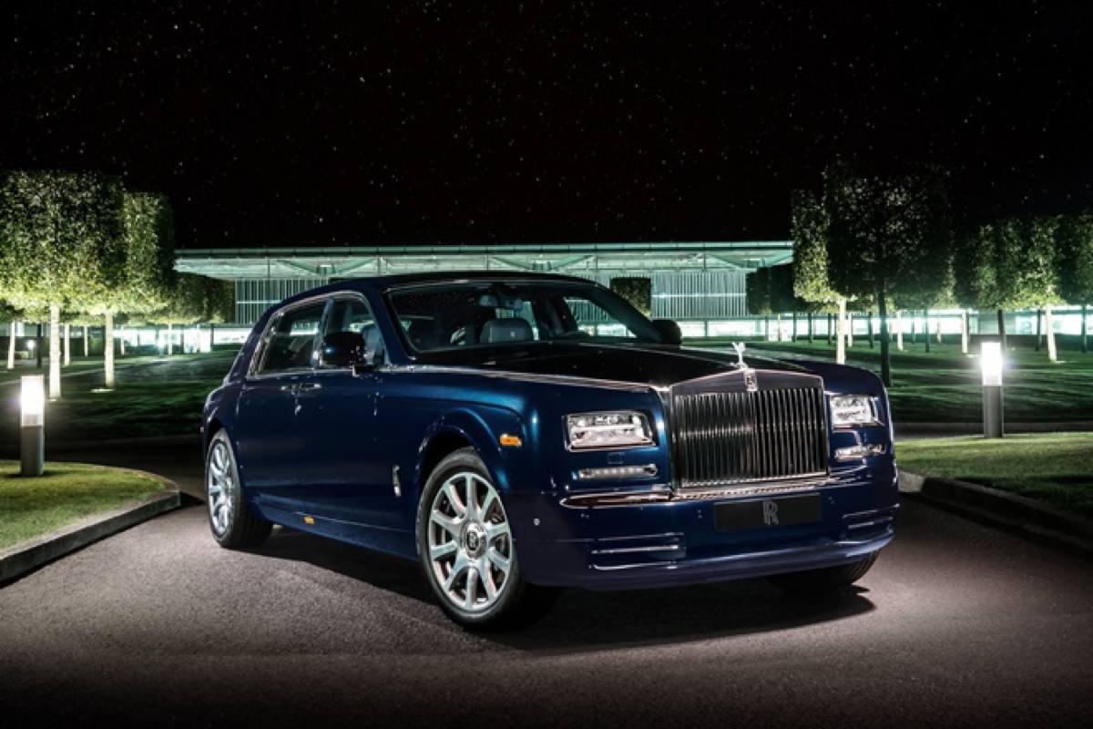 ram charan car collection - rolls royce phantom front three quarters