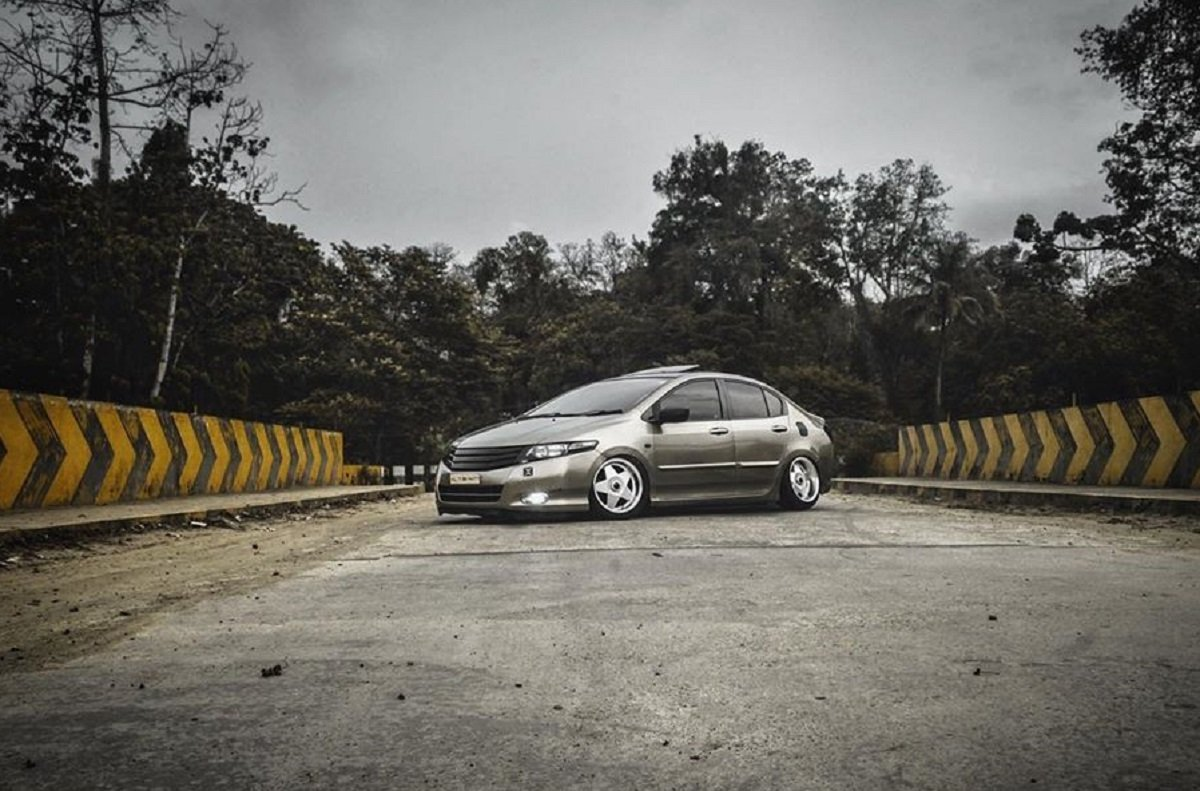 This Honda City Is Bagged With Accuair Air Suspension