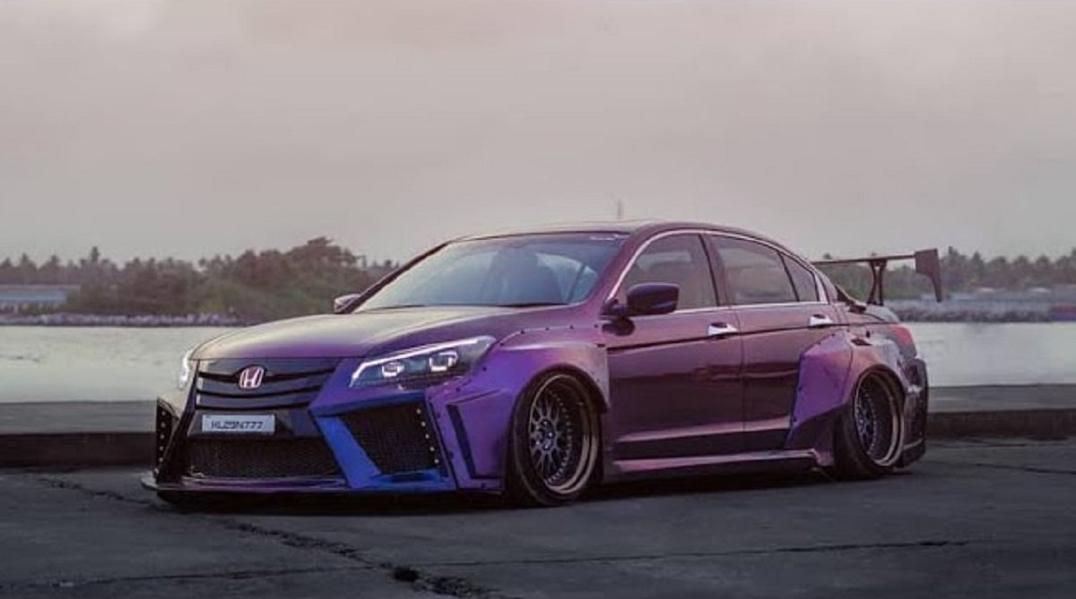 Check Out This Bagged Honda Accord With Wide Body Kit
