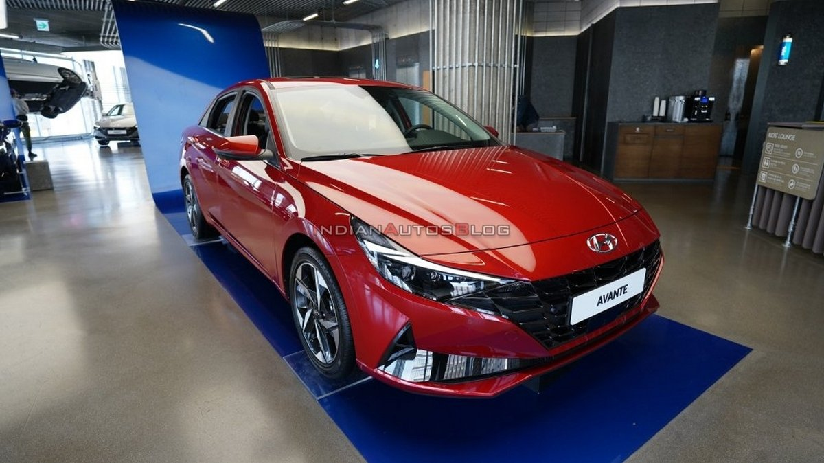 Front-side-look-of-red-colured-Hyundai-Elantra
