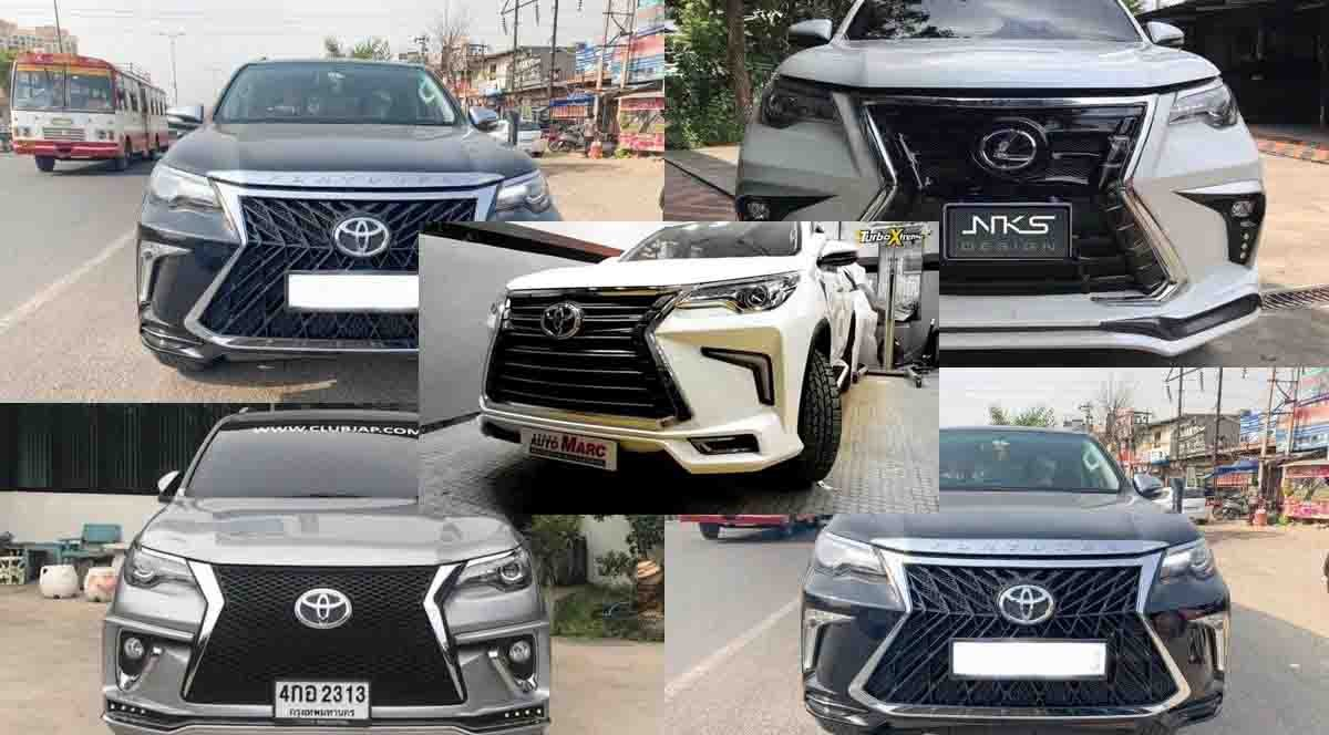 modified Toyota Fortuner SUVs That Want To Be A Rs 2 Crore Lexus