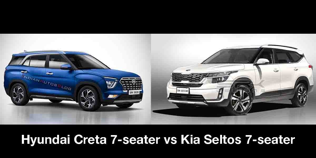 7-seater Kia Seltos vs 7-seater Hyundai Creta - What's Your Pick?