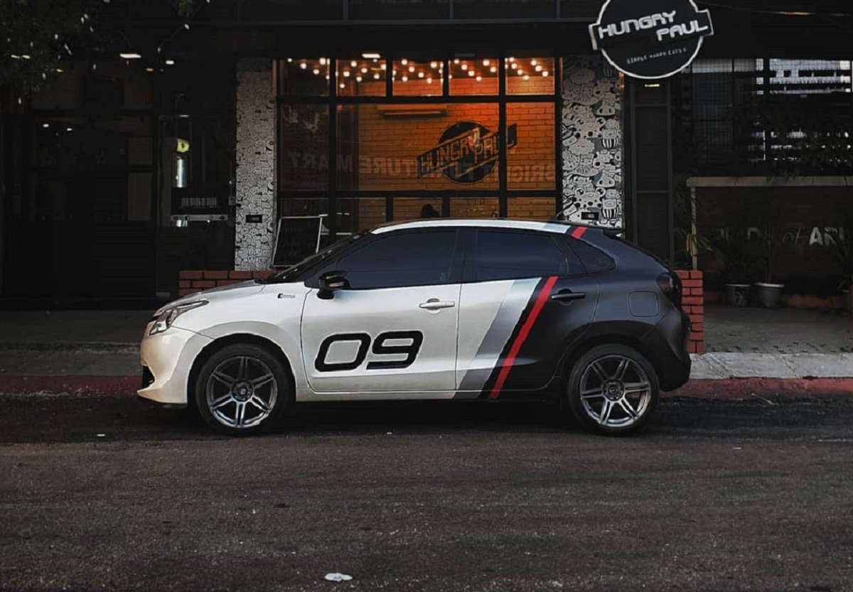 Crazily Wrapped Maruti Baleno Is The Best-Ever We Came Across