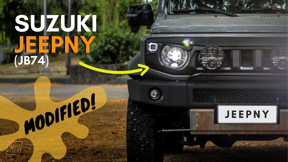 Here's a Modified Suzuki Jimny with Jeep Face