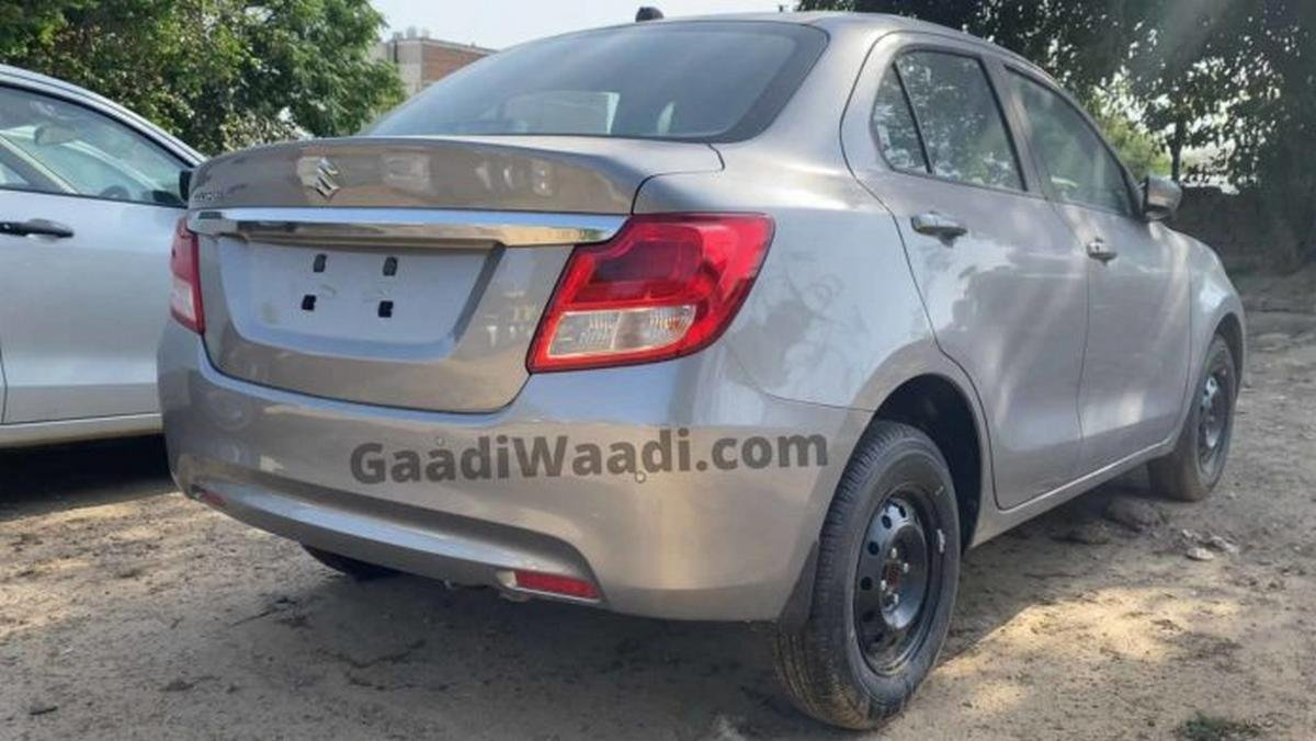 2020 maruti dzire facelift rear three quarters images 1