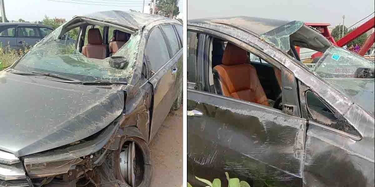 Toyota Innova Crysta Rolls Over Thrice After Hitting a Santro, Occupants Safe Even Though Airbags Fail To Deploy