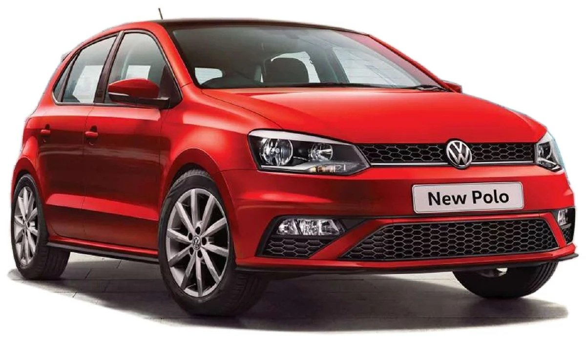 Volkswagen Polo red with white background