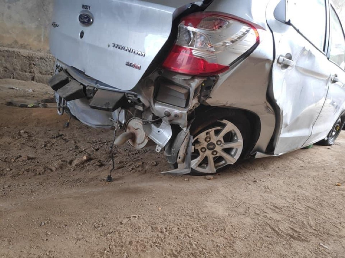 Ford Figo (4-star Latin NCAP) Meets With A Massive Accident, Owner Totally Safe