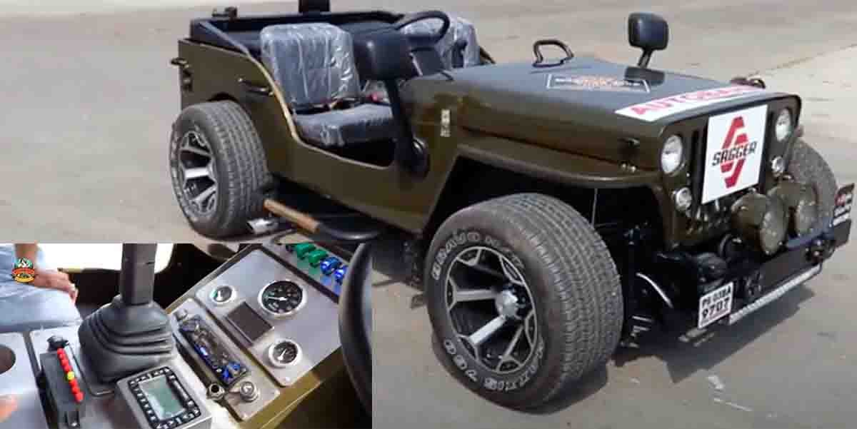 This Modified Lowrider Willys Jeep Gets Air Suspension
