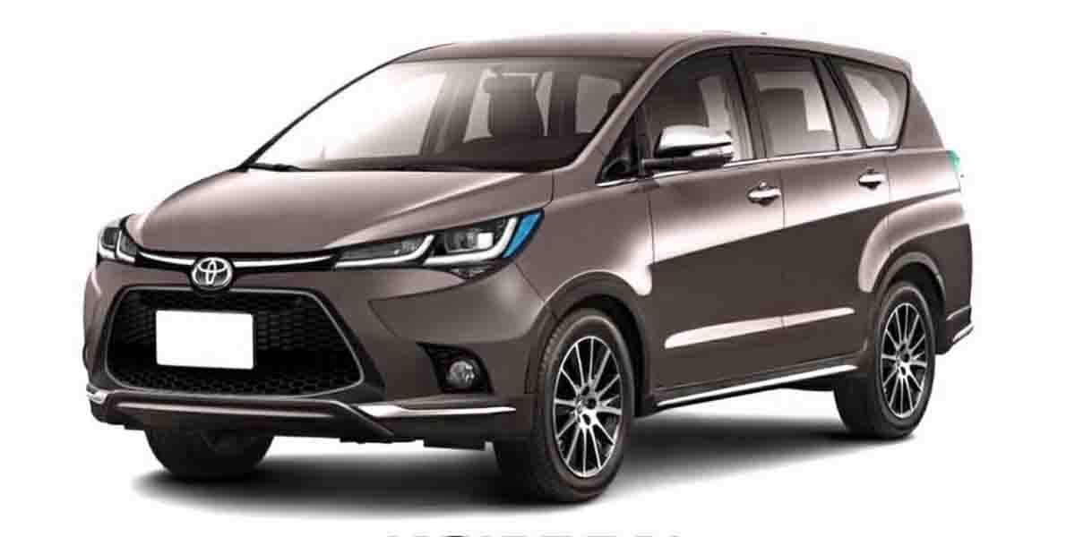 Upcoming Toyota Innova Crysta Facelift Digital Rendering