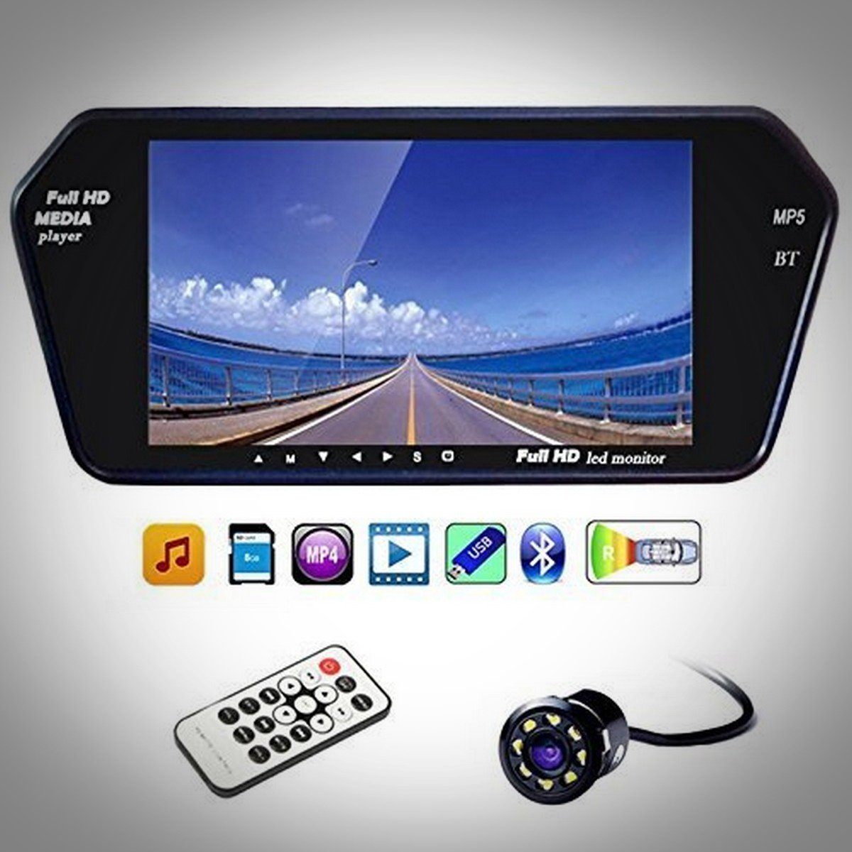 generic 7 inch full hd touch bluetooth led screen