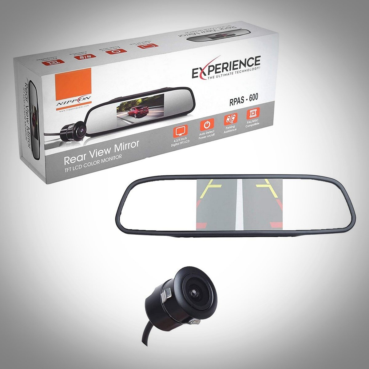 nippon rpas 600 rear view mirror with camera