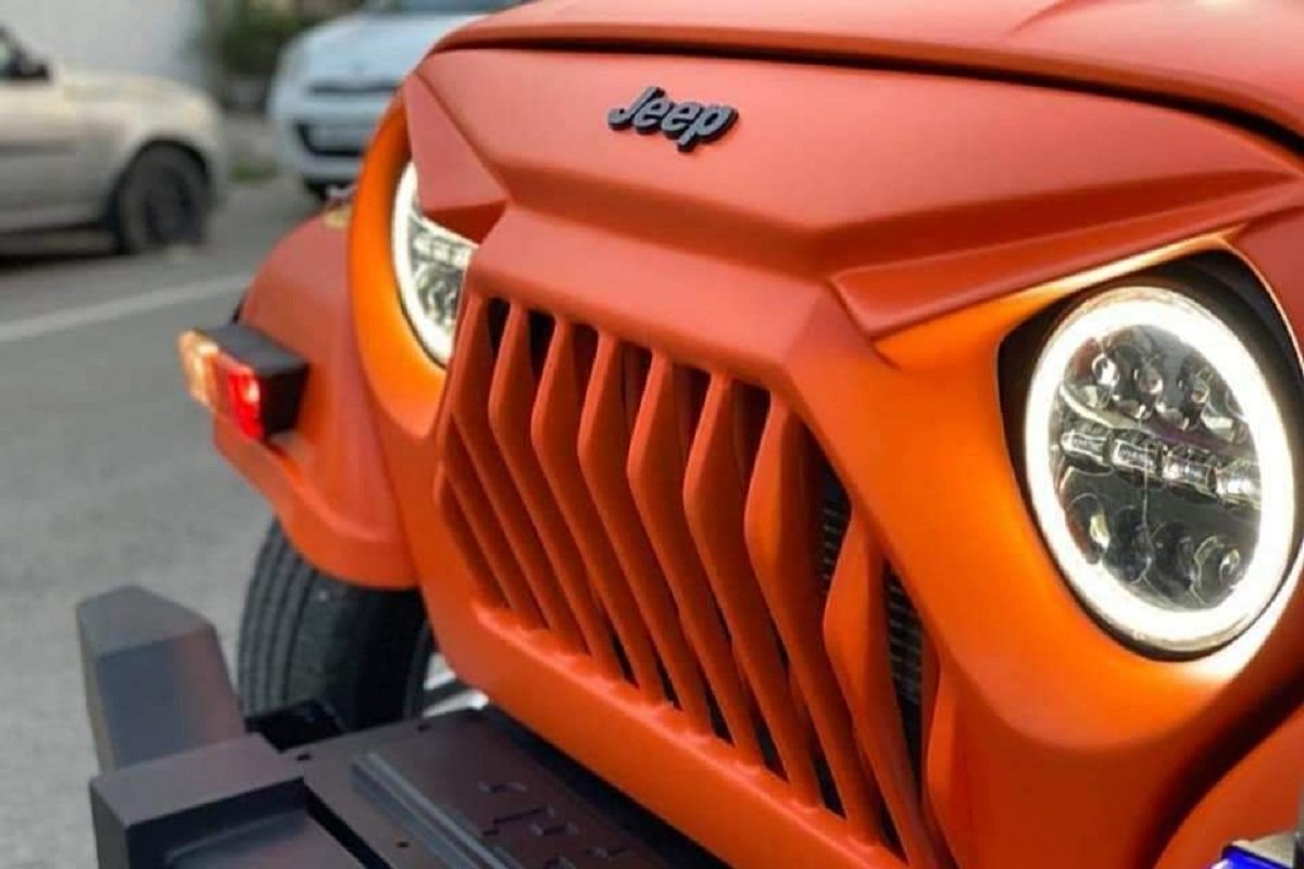 Modified Mahindra Thar Front Grille