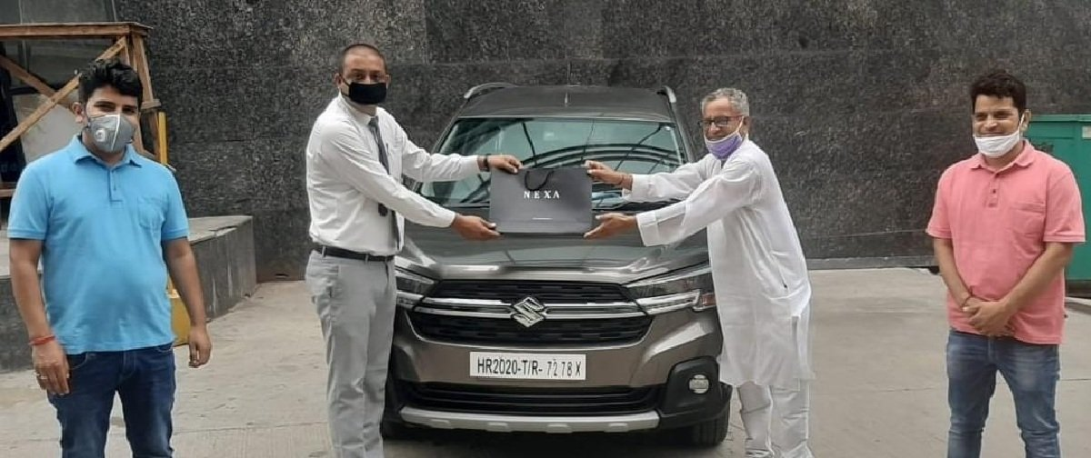 Maruti XL6 delivered to customers during lockdown