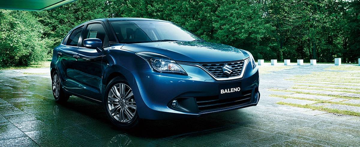 suzuki baleno japan front three quarters