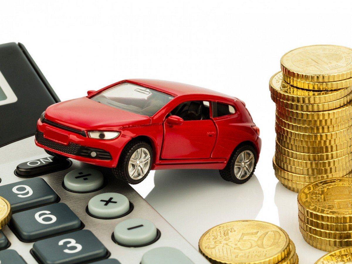 toy car with money and calculator below