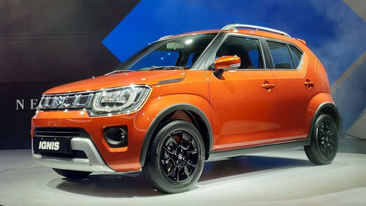 maruti ignis side profile three quarters