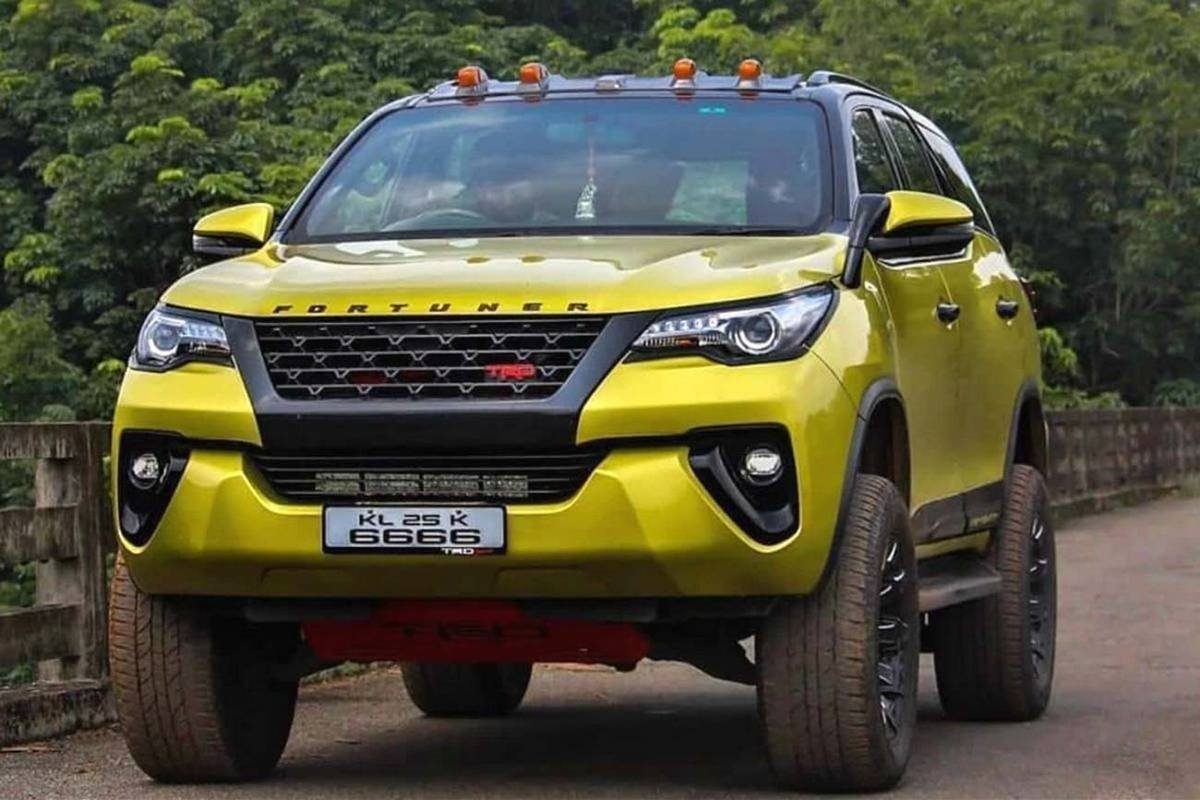 modified toyota fortuner front three quarters