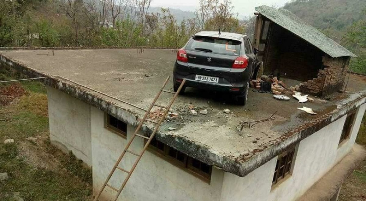 Maruti Baleno Lands On Someone's Roof - Here's What Happened