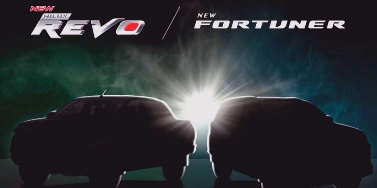 Toyota official teaser Fortuner and Hilux facelift models