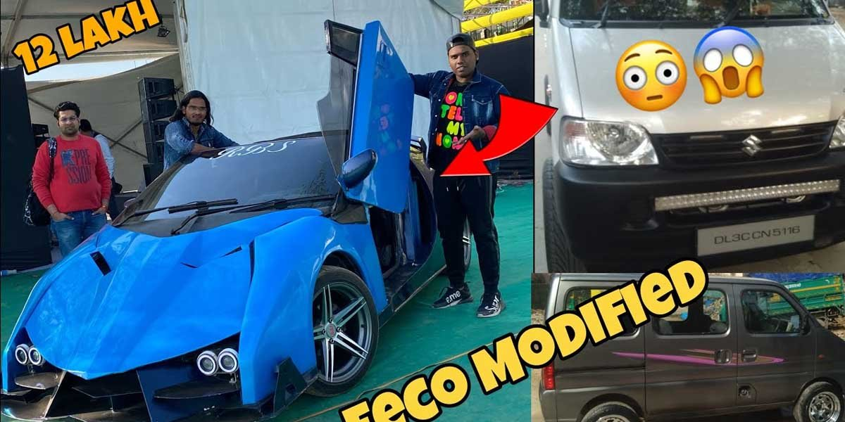 BAREBONES Maruti Eeco Modified Into a Lamborghini