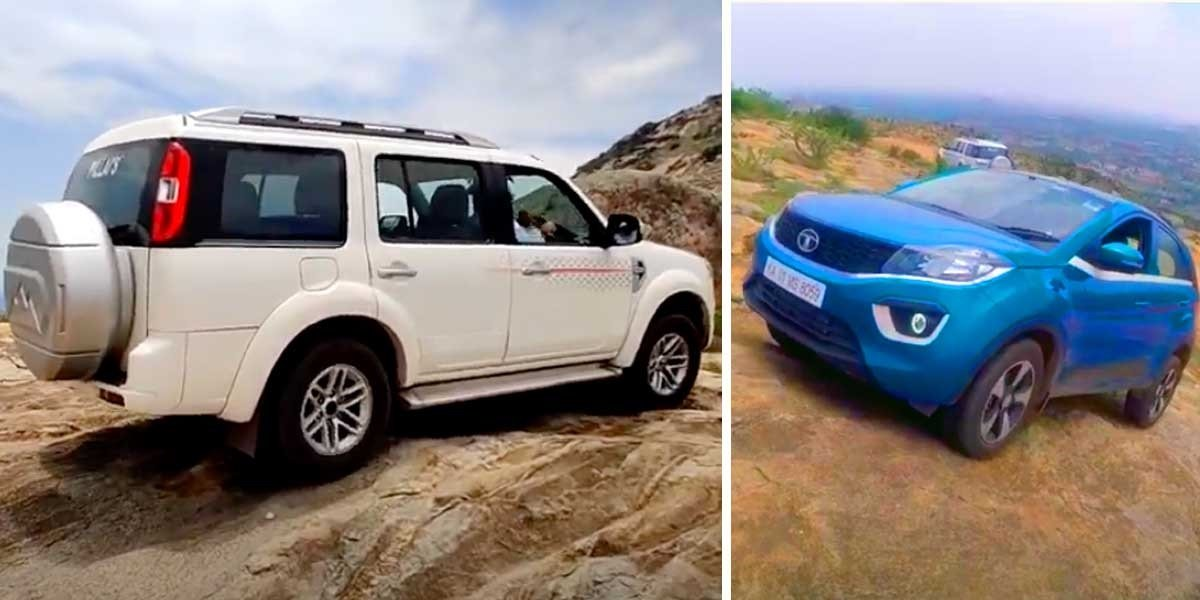 Tata Nexon 'Hill Climb' Session With Ford Endeavour 4x4 - Video