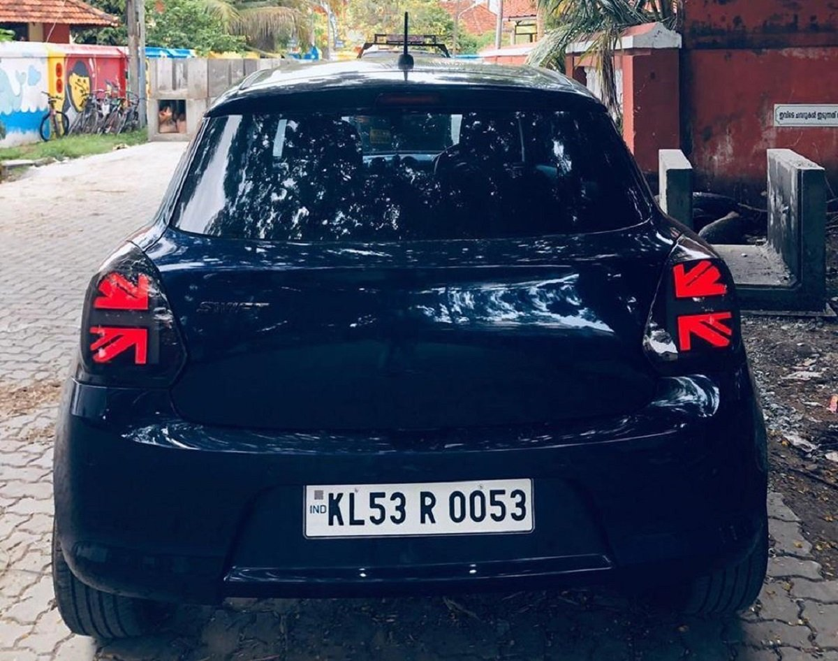 This Maruti Swift Gets Its Taillamps From Mini Cooper