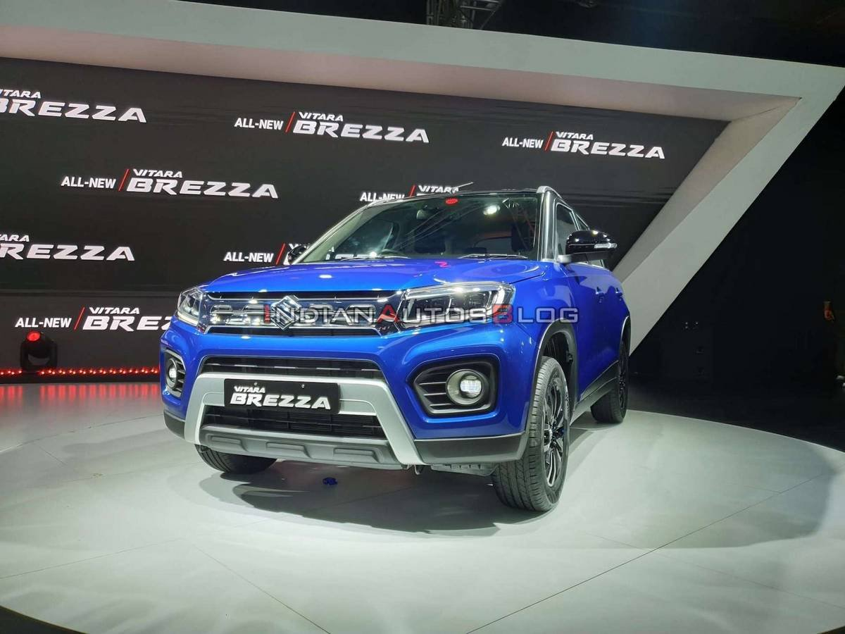 2020 maruti vitara brezza facelift front three quarters
