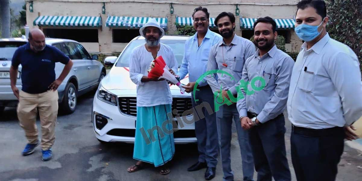 Ajay Jadeja Takes Delivery of Kia Carnival in Udaipur