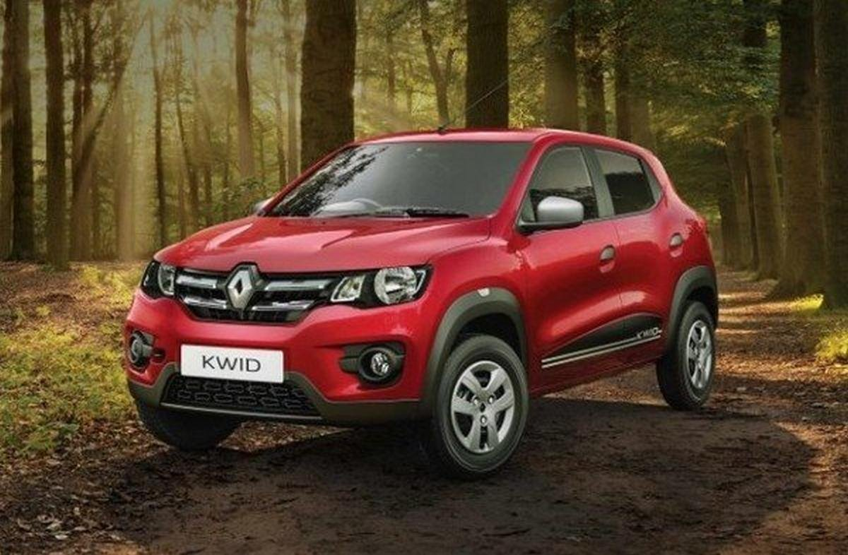 current renault kwid red front angle