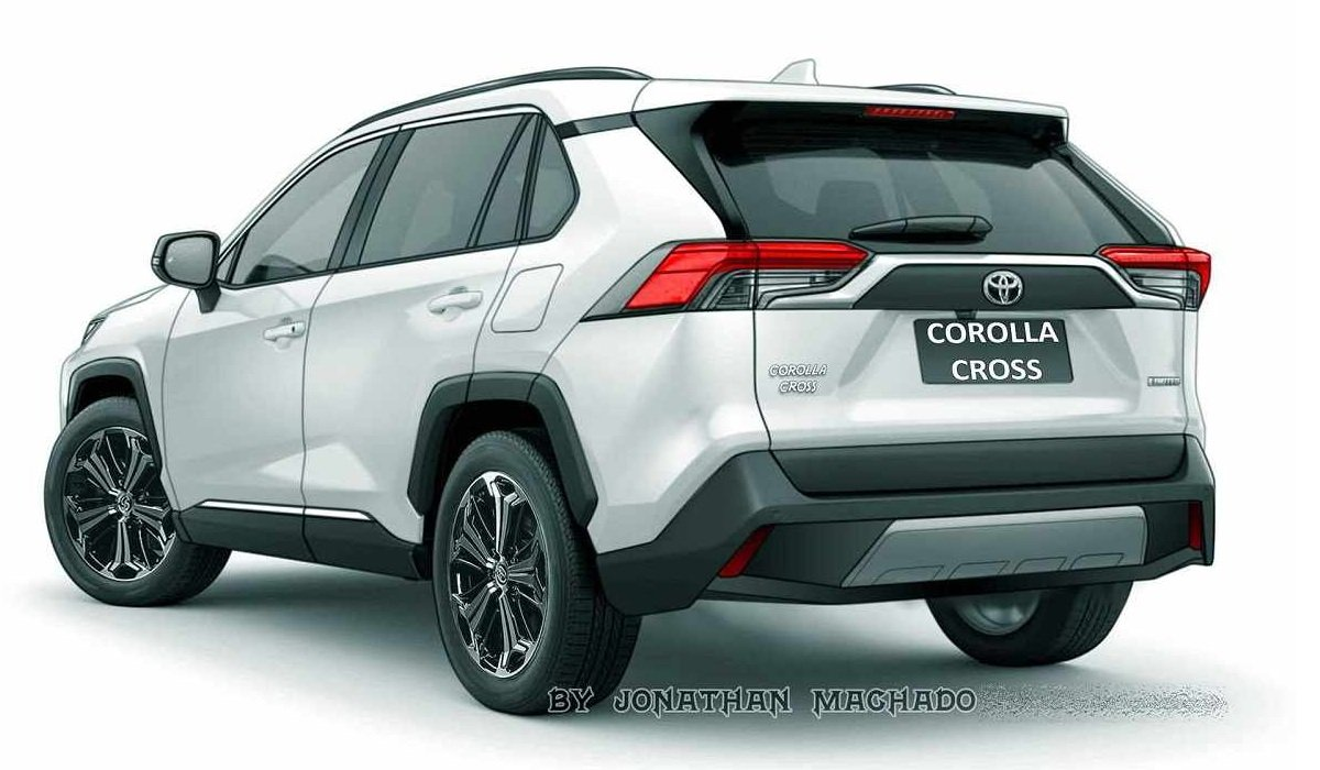 Toyota Corolla Cross rendering rear angle